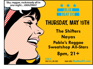 BlueBeat DC May 19th 2011 Show Flyer